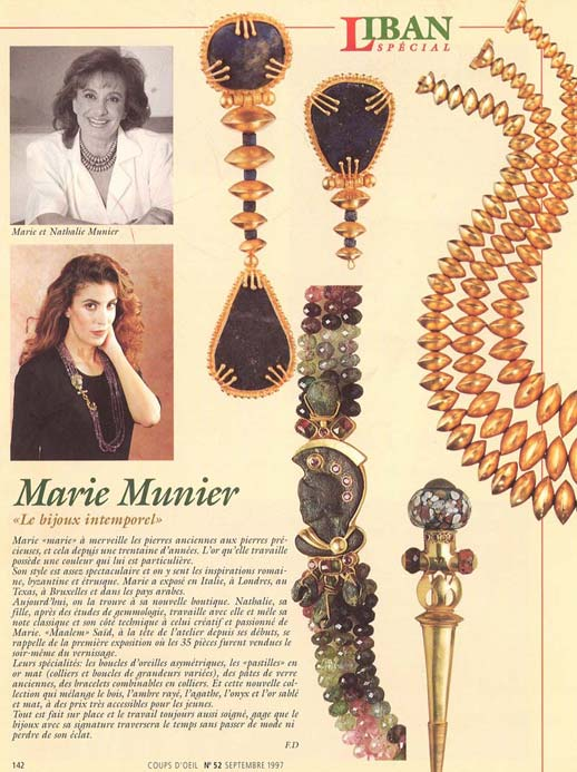 Marie Munier 'Le bijoux intemporel'